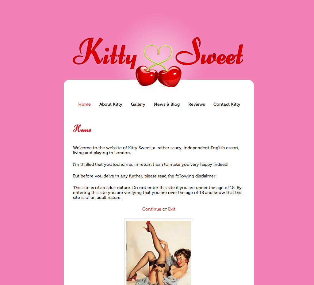 Kitty Sweet - Designed and Developed by YourEscortSite.com
