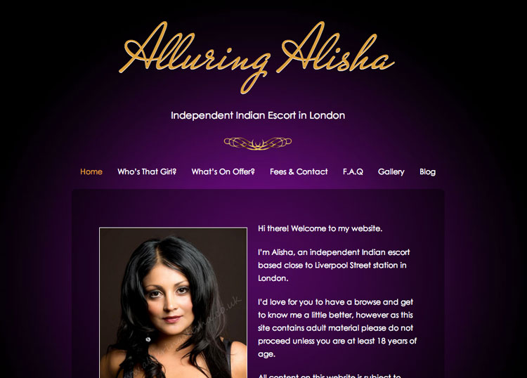 Alluring Alisha - Designed and Developed by YourEscortSite.com