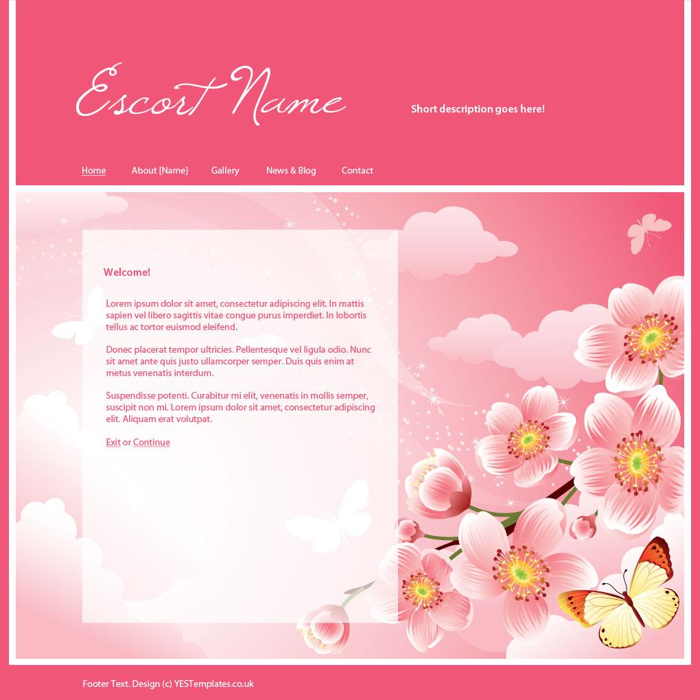 Your Escort Site - Template - Cherry Blossom