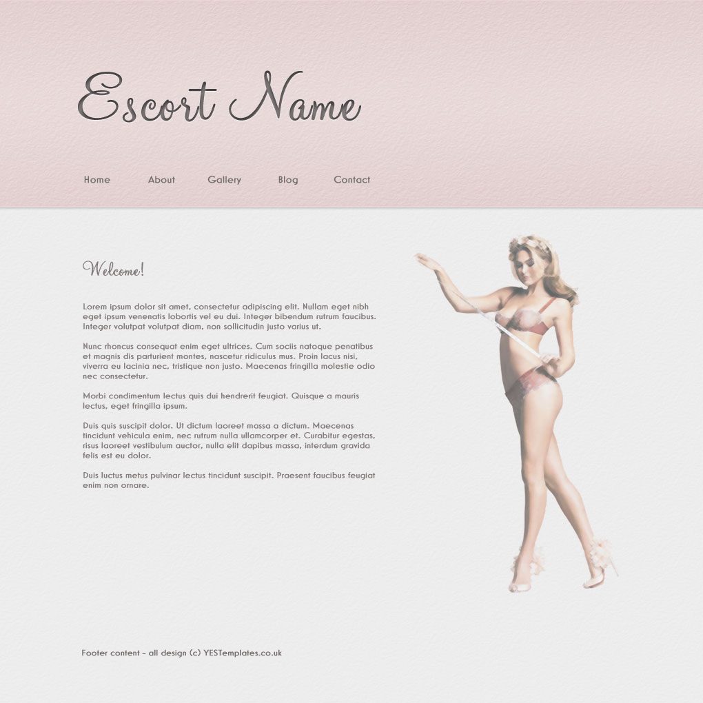Your Escort Site - Template - The Notebook