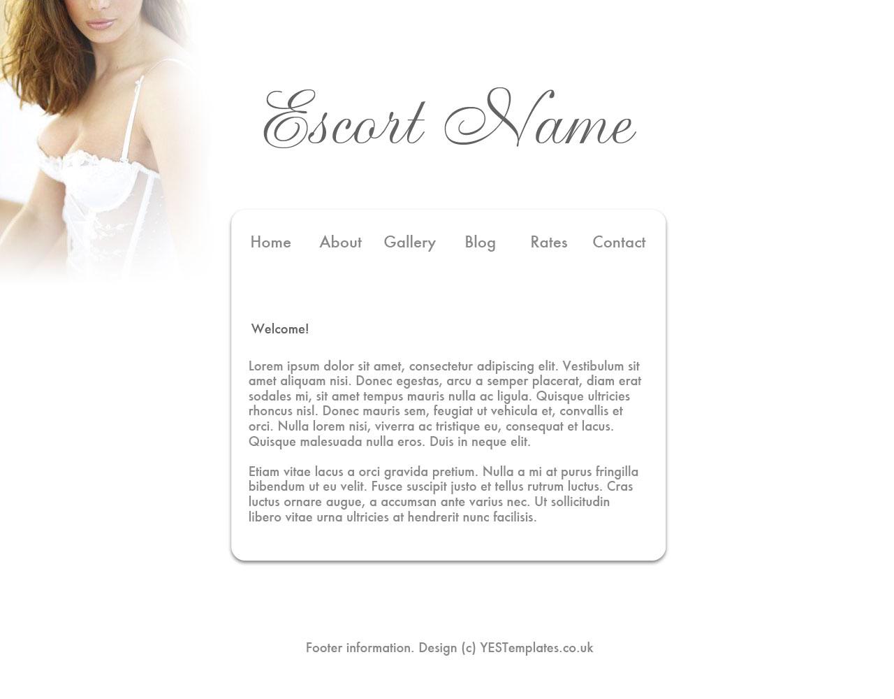 Your Escort Site - Template - White Haze